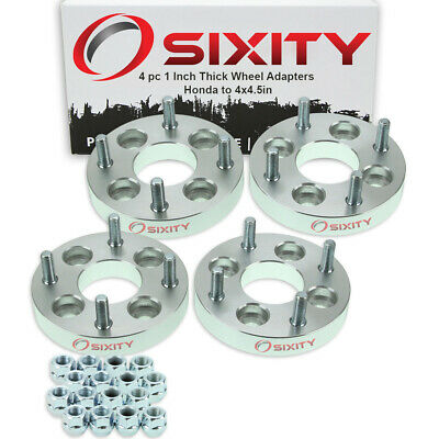 """4pc 4x3.9"""" to 4x4.5"""" Wheel Spacers Adapters 1"""" for Honda Accord Civic del mc"""