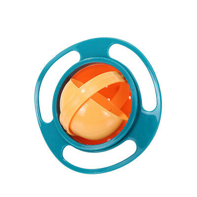 Universal Gyro Bowl Baby Kids Infant Feeding Dishes 360° Rotate Spill-Proof Bowl