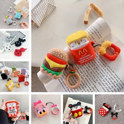 3D Cute Silicone Cartoon Case Apple Airpods Charging Case Earbuds Cover Skin