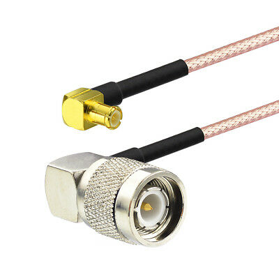 Pigtail cable TNC male plug RA to MCX plug right angle RG316 15cm for Wireless