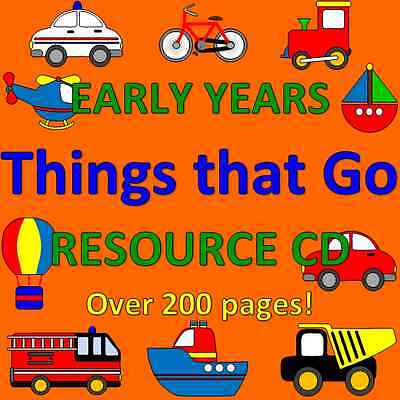 THINGS THAT GO - TRANSPORT- Childminding resources on CD, EYFS, CHILDMINDER