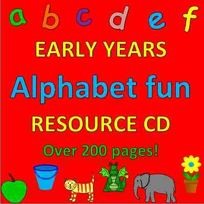 ALPHABET FUN- Childminding resources on CD, EYFS, CHILDMINDER- Literacy, phonics