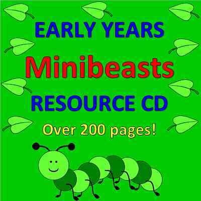 MINIBEASTS TOPIC- Childminding resources on CD, EYFS, OFSTED, CHILDMINDER
