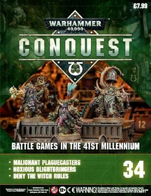 Warhammer Conquest 34 with Plague Caster, Blightbringer and Plague Marine