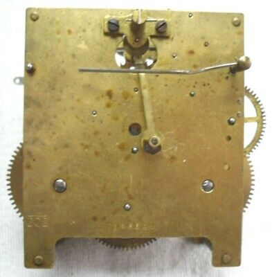 Vintage 1920-30s Brass Chiming Mantel Clock Movement Incomplete,Spares Or Repair