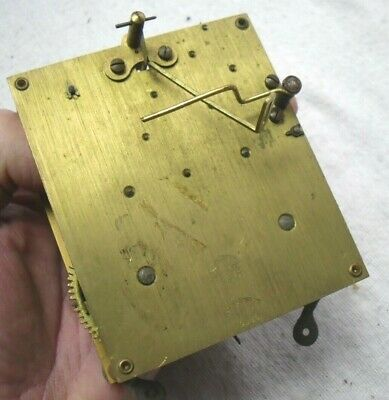 Vintage 1920-30s Brass 'Empire' Chiming Mantel Clock Movement,Spares Or Repair.