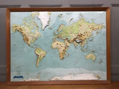Large George Philip And Son Retro School World Wall Map