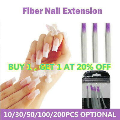 Nail Form Fiber Glass Nails Acrylic Tips Extension for Nails Silk Manicur Repair