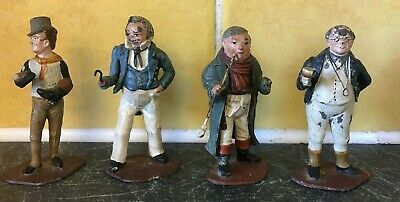 Set Of Four Lovely 8cm Metal Figures (D4)