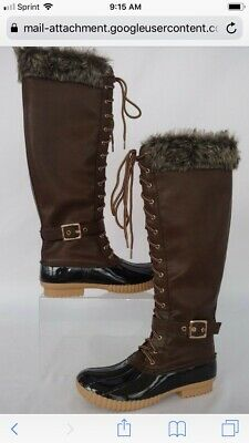 354ad2acc9bf Nature Breeze Duck-02 Women Stitching Lace Up Side Zip Waterproof Insulated  Boot