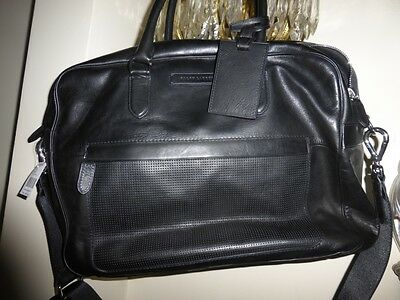 nwt 1,298 ralph lauren leather duffle/briefcase/luggage lux line ext all leather