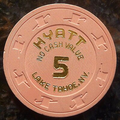 Hyatt Casino Lake Tahoe 5 NCV No Cash Value chip