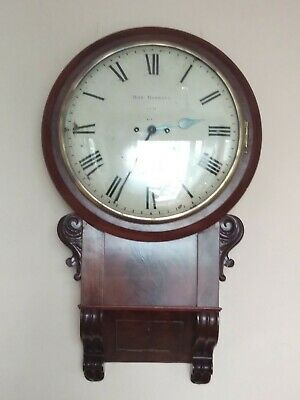 Robert Roskell, Liverpool. A Good Mahogany Drop Dial Wall Clock.