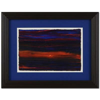 """Wyland """"Sun 12"""" ORIGINAL Framed Watercolor Painting, Hand Signed w/ COA"""