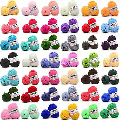 CHIC 46 colors Crochet Soft Bamboo Cotton Knitting Yarn Baby Natural Wool Yarn Y