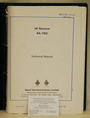 Racal HF Receiver RA.1792 Technical Manual