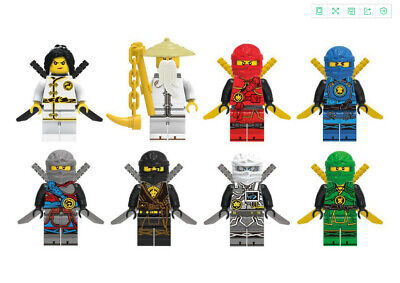 New 8 Sets Ninjago Jay Cole Kai Llo Ninja Mini figures Building Blocks Toys