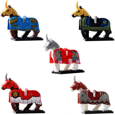 5PCS War Horse Medieval Knights Rome Crusader Fit Lego The Lord Of The Rings