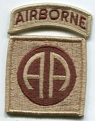 US Army 82nd Airborne Division DCU Desert Tan Patch With Tab
