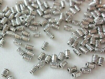 50 Antique Silver Coloured 5mmx3mm Tube Spacer Beads #sp3338 Jewellery Making