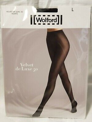 8475846eb5a01 WOLFORD VELVET DE Luxe 50 Tights, Black, L - $23.50 | PicClick