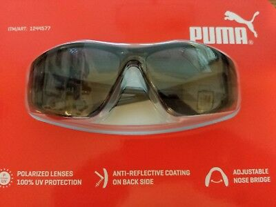 0730e84c38fc Factory Sealed Puma Sports Sunglasses Gloss Black Frame Grey Lens Unisex