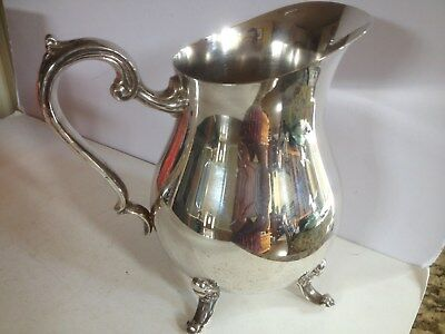 Beautiful Kent Silversmiths Large Footed Water Pitcher