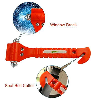 Ipow Car Emergency Escape Window Break Hammer Safety Seat Belt Cutter