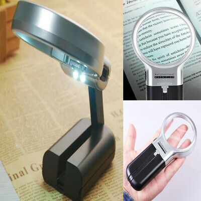 Hands Free Folding Magnifying Glass with LED Light And Adjustable Lamp Magnifier