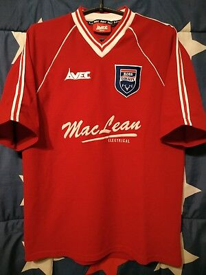 SIZE M Ross County Scotland 1998-2000 Away Football Shirt Jersey Avec