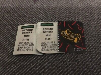 Mcdonalds 2019 Monopoly Mini Regent St Oxford St M117 & M118 (Only need 1!)