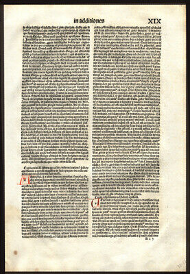 1497 Large Incunable Bible Leaf St  Jerome's  Prologue to The Old Testament