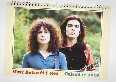 Marc Bolan / T.Rex - Calendar 2019 - A4 13 pages - Ltd. 75 copies + post card
