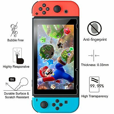 Verre Protection Rigide Écran Verre Trempé Nintendo Switch Garantie à Vie  2 pcs