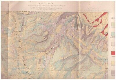 Bald Mountain region Wyoming 1898 color map Timber