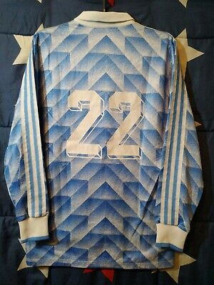 Vintage Adidas 1988-1990 Football Long Sleeve Shirt Made In West Germany #22