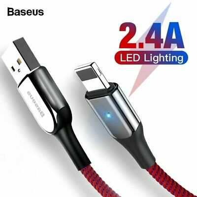 Baseus Fast USB Charger Cable 2.4A Lightning Charger for iPhone XS X 8 7 6 6s