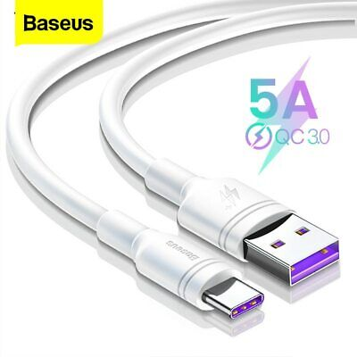Baseus USB Type C Cable 5A Fast Charger Cord for Huawei Mate 20 P30 P20 Pro Lite