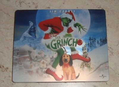 How the Grinch Stole Christmas Jim Carrey RARE OOP Blu-Ray SteelBook Dr. Seuss