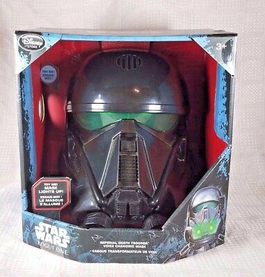 Disney Star Wars Rogue One Imperial Death Trooper Voice Change Light Up Mask NIB