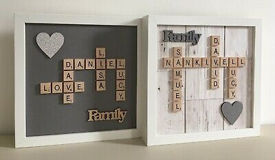 Scrabble Art Picture Frame Personalised Various Styles Any Occasion
