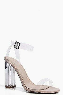 5f8bc9dc307 PUBLIC DESIRE CLEAR Perspex Heels Size 5