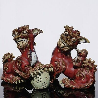 ANTIQUE CHINESE FOO DOGS QING DYNASTY. 19th Century