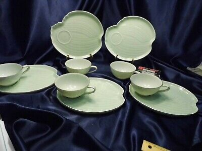 Seyei Coffee Tea Luncheon Set Five Snack Plates & Cup Sets
