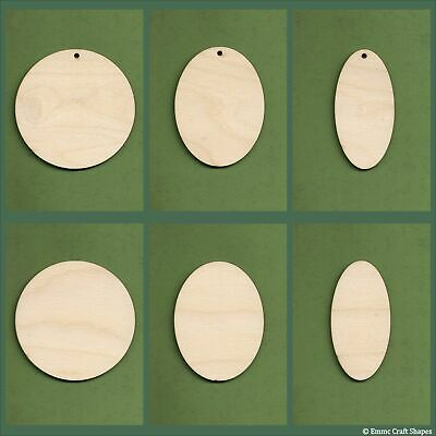 Wooden circle and oval blanks 4mm birch plywood for crafts, signs and plaques
