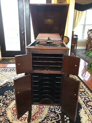 1916 Antique Victor Victrola Talking Machine Model VV-X Beautiful-Working- Rare