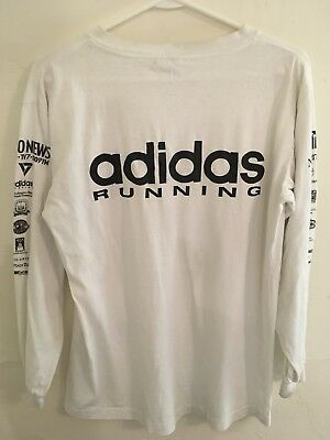 Vintage Men's Size Medium Adidas Trefoil 1990's Running Marathon Seattle T Shirt
