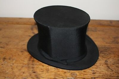 Vintage Mortlock Collapsable Pop Up Black Top Hat Good Condition