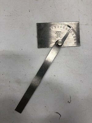 Nos General No.17 Protractor Stainless Steel Square Head Made In Usa