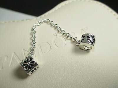 New Authentic Pandora Sterling Silver 925 Ale Daisy Flower Safety Chain 790385